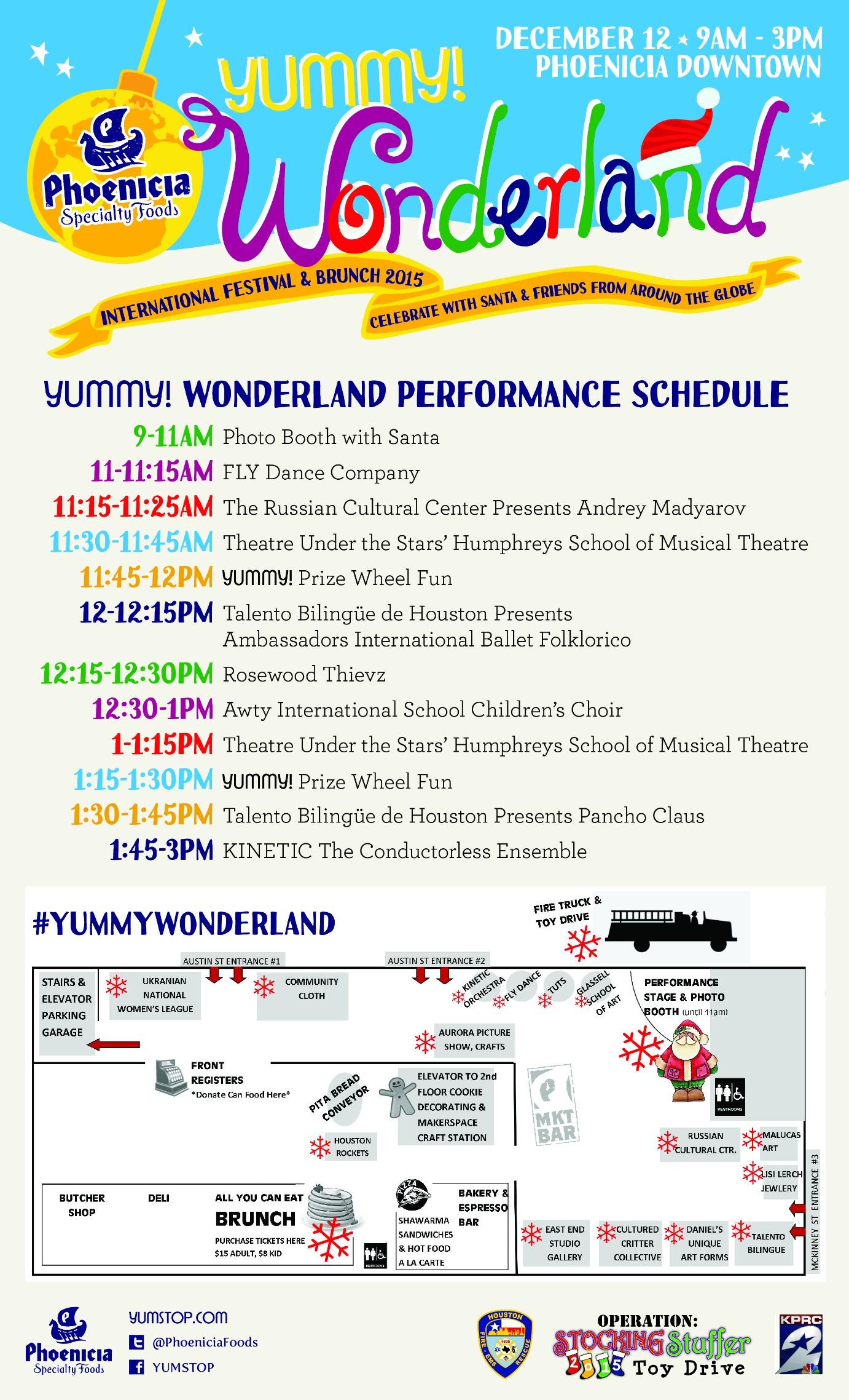 YUMMY! Wonderland Performance Schedule & Map