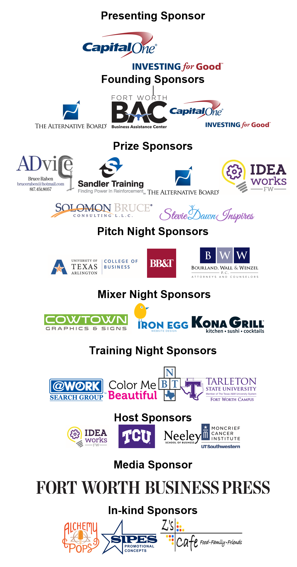 Thank you to our 2016 Sponsors!