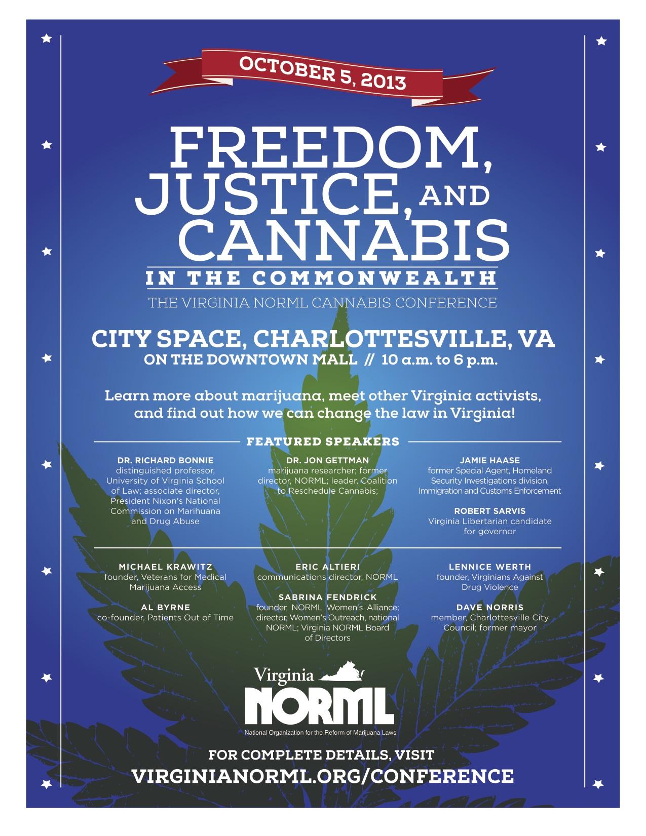 Virginia NORML Conference Flyer