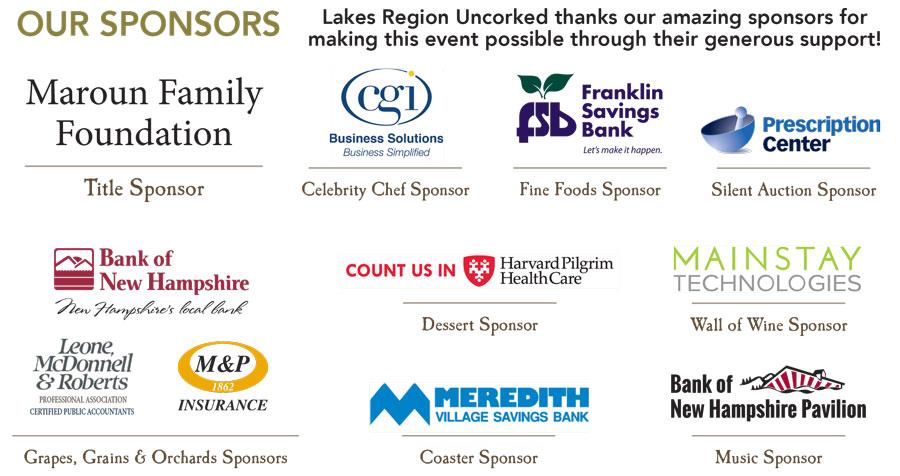 Uncorked Sponsors 2016