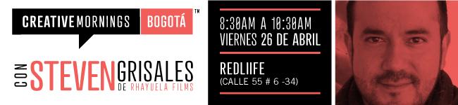 CreativeMornings/Bogotá con Steven Grisales