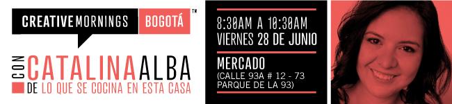 CreativeMornings/Bogotá con Catalina Alba