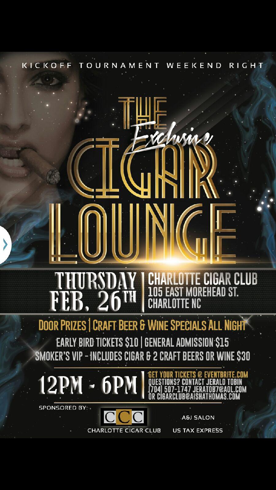 Cigar Lounge event details (flyer)