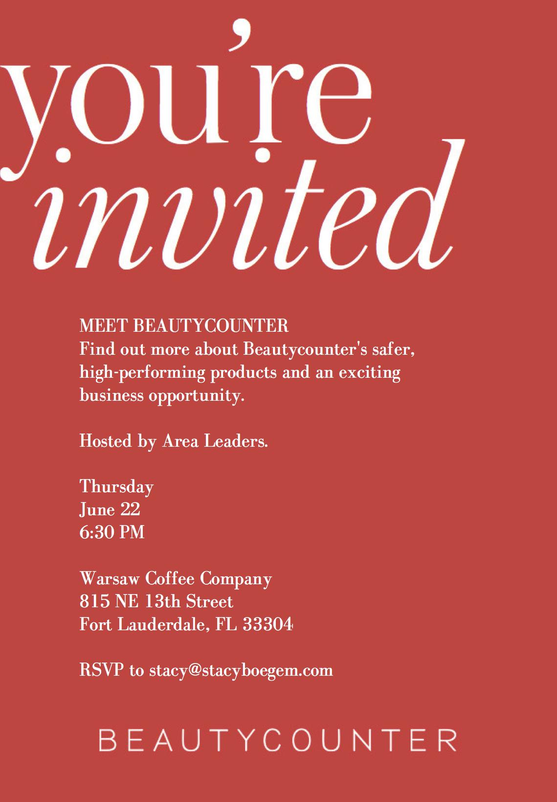 Meet Beautycounter in Fort Lauderdale