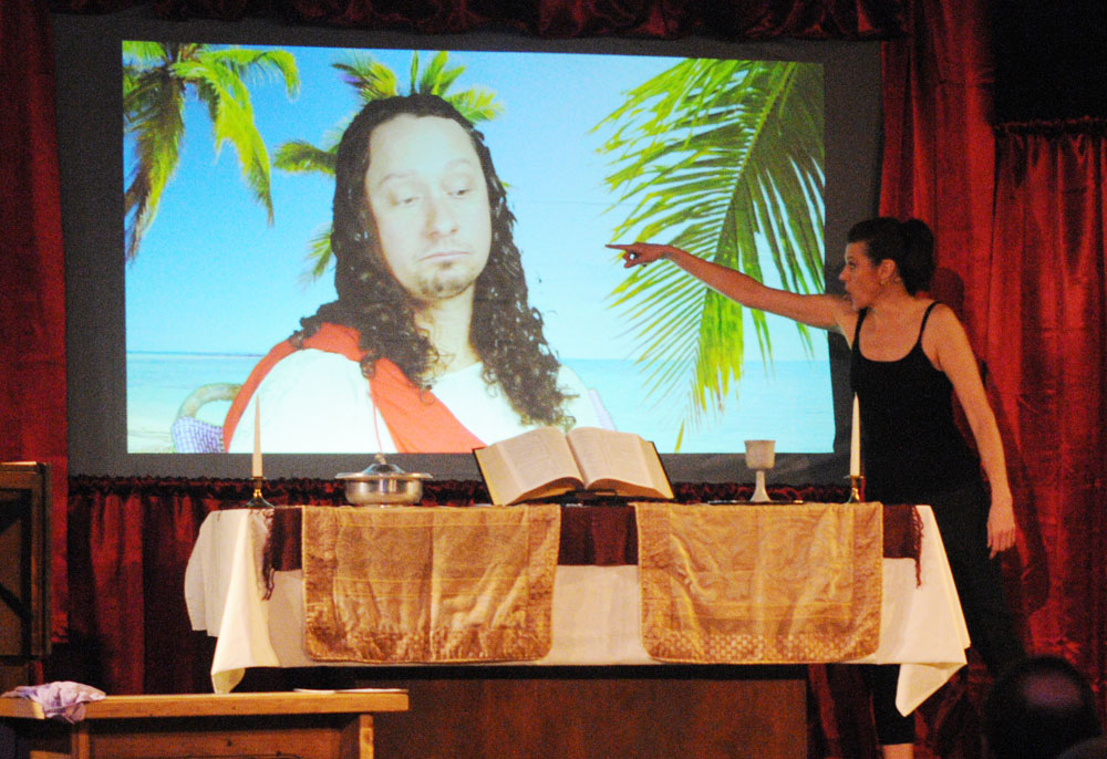 Thea talks back to Jesus