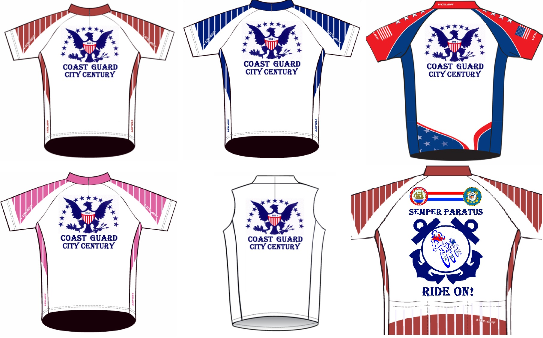 2011 CGCC 5 Jersey Options - Front & Back