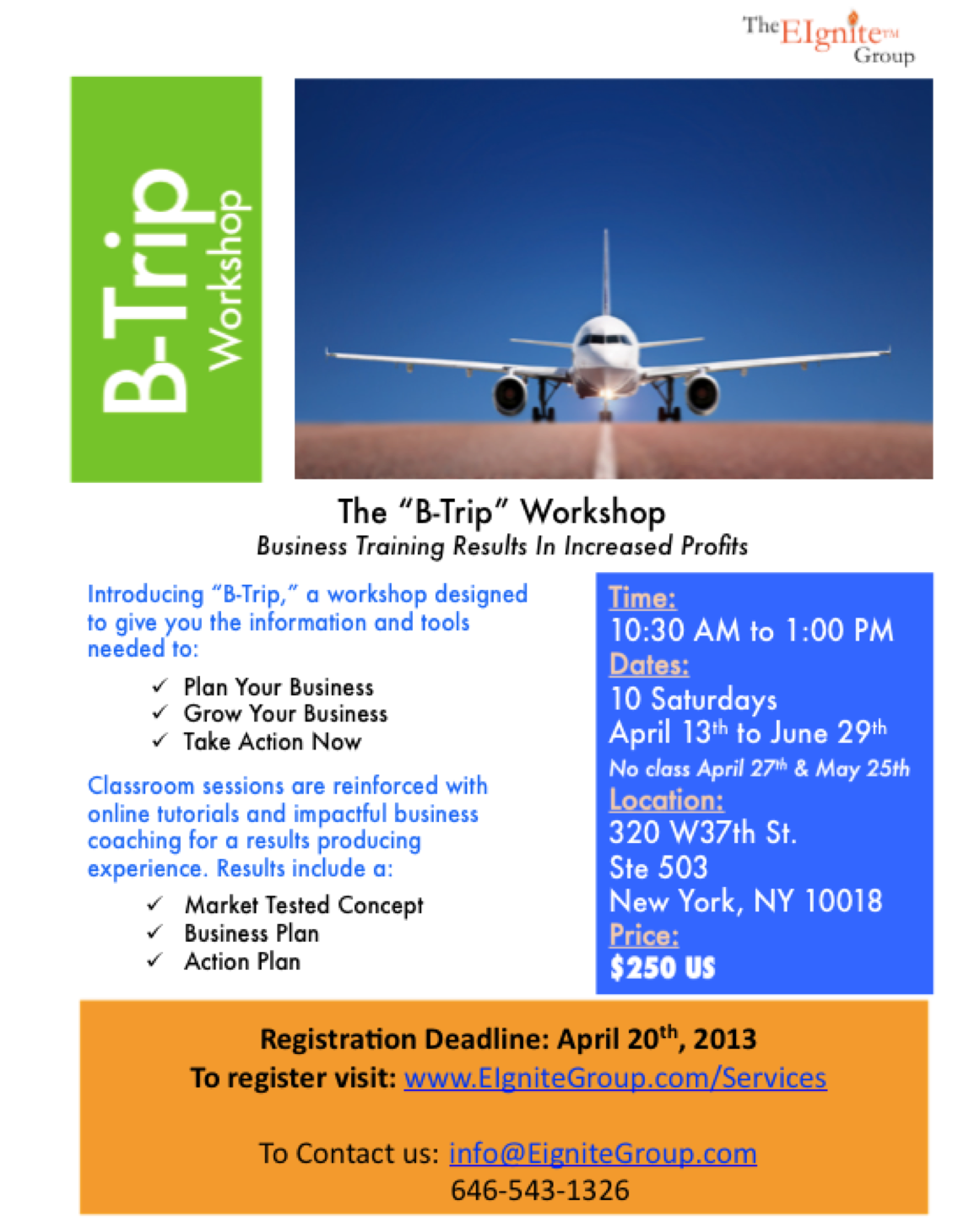 B-Trip Workshop Flier