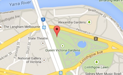 Map of Picnic Spot in Queen Victoria Gardens Melbourne
