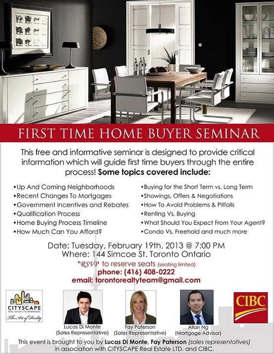 free first time home buyer seminar tickets toronto eventbrite. Black Bedroom Furniture Sets. Home Design Ideas