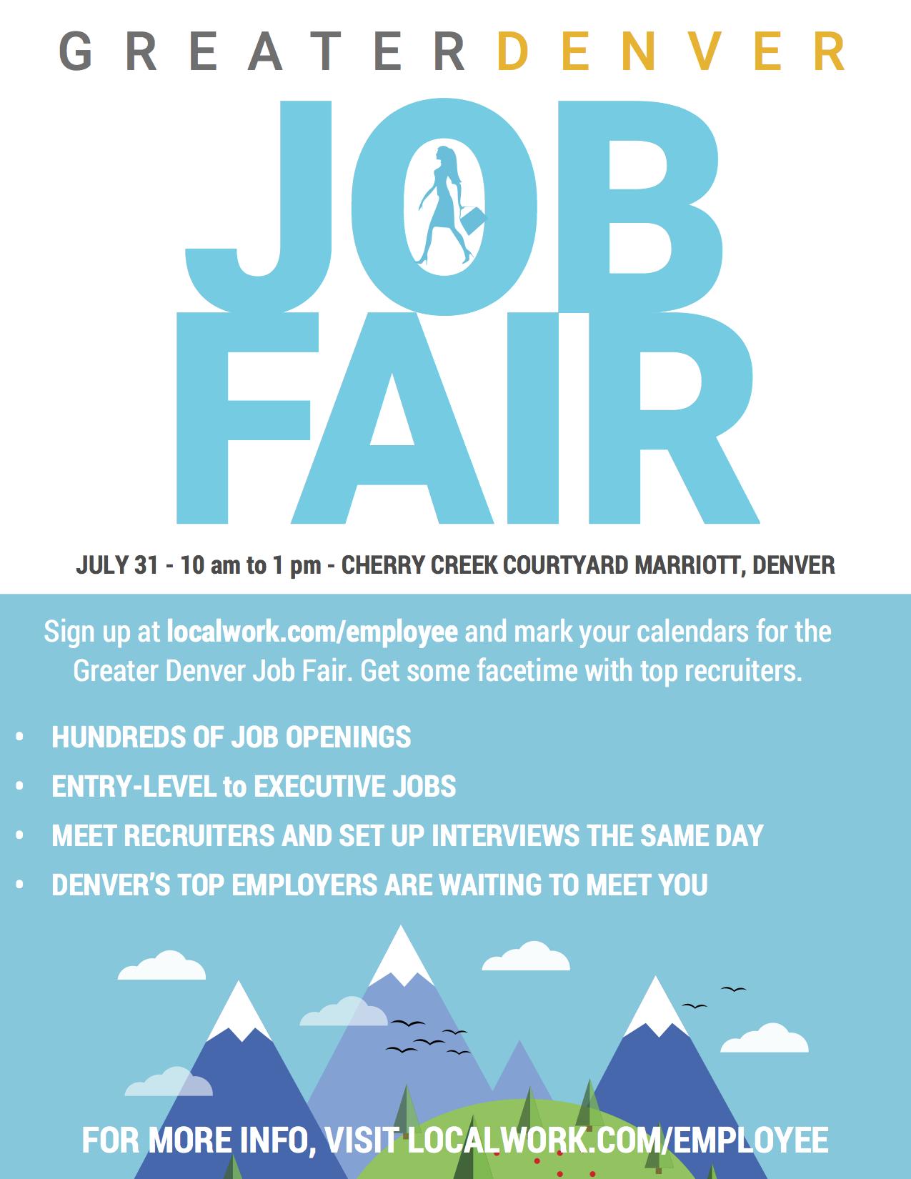 Greater Denver Job Fair Information