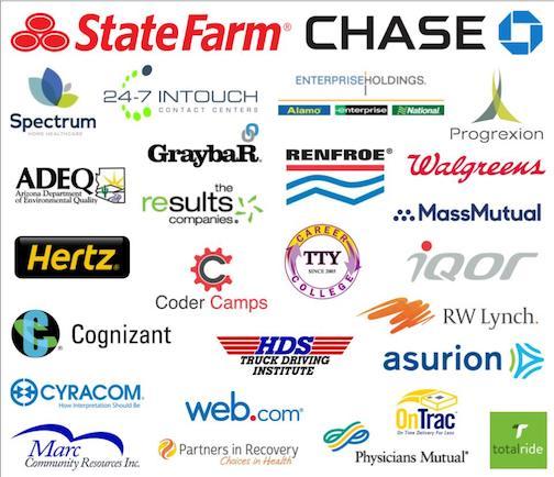 Greater Phoenix Job Fair Recent Participants