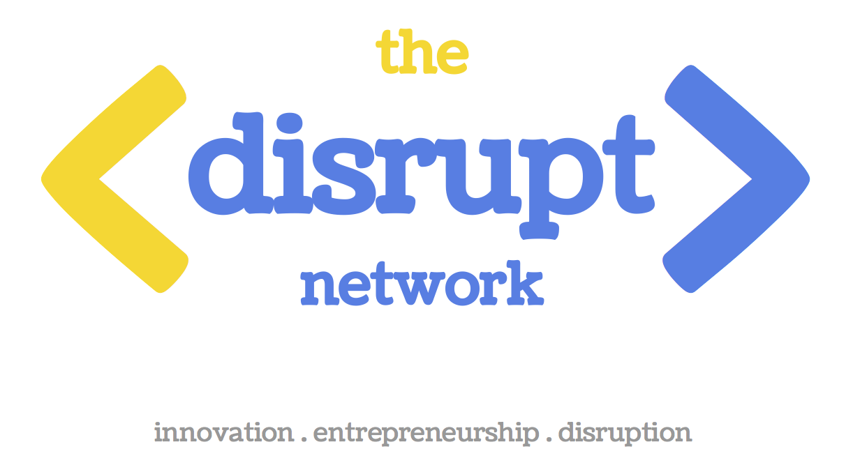 The Disrupt Network Logo - White