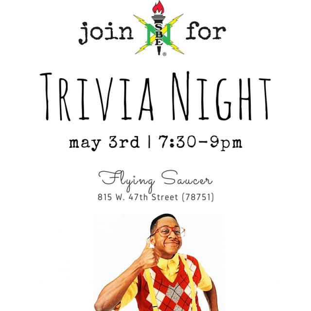 Trvia Night 5/3 @ 7:330pm at Flying Saucer flyer