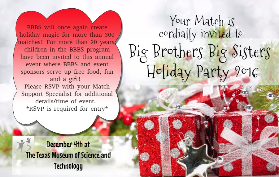 BBBS Holiday Party 2016 flyer