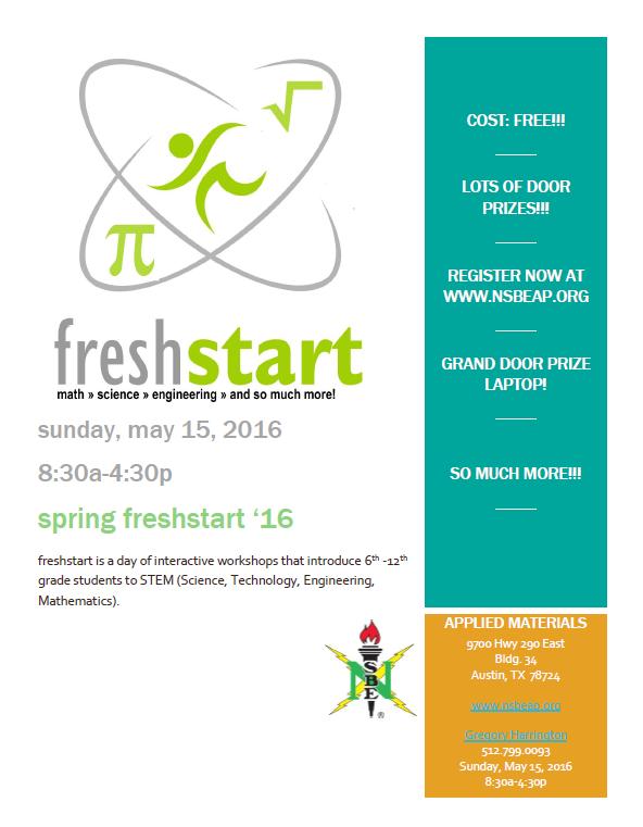 2016 Spring Freshstart