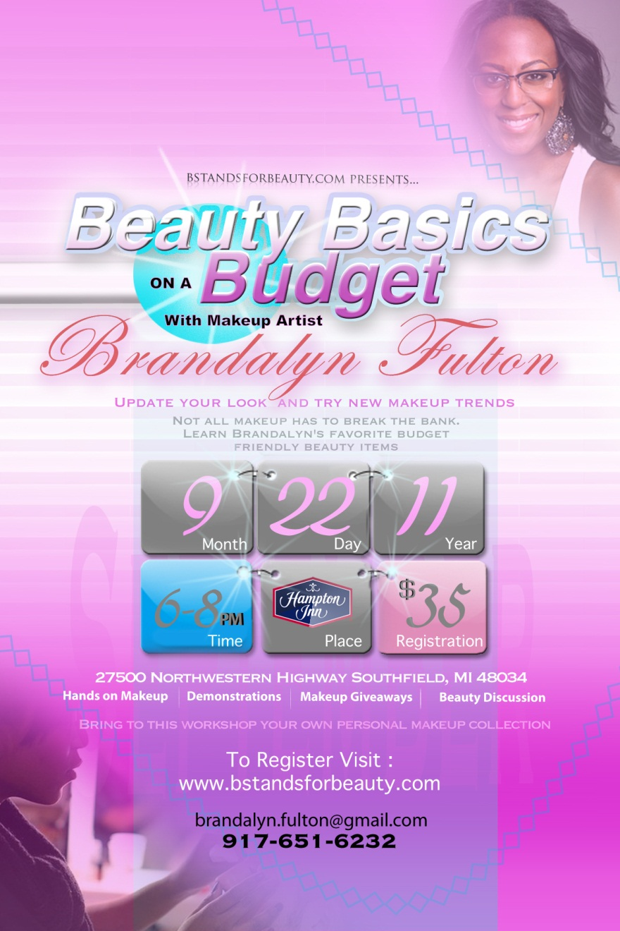Beauty Basics on a Budget Flyer