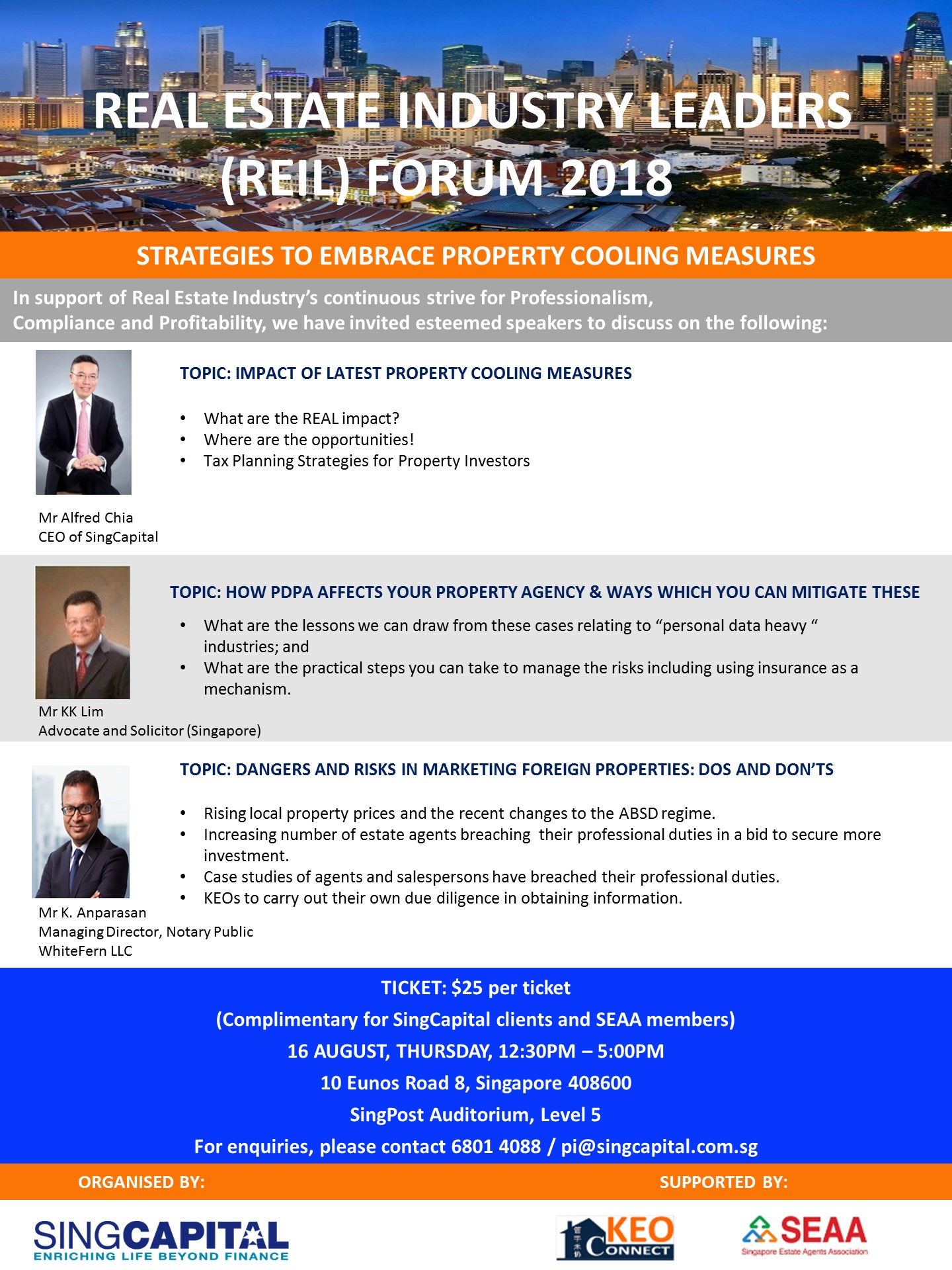 Real Estate Industry Leaders (REIL) Forum 2018