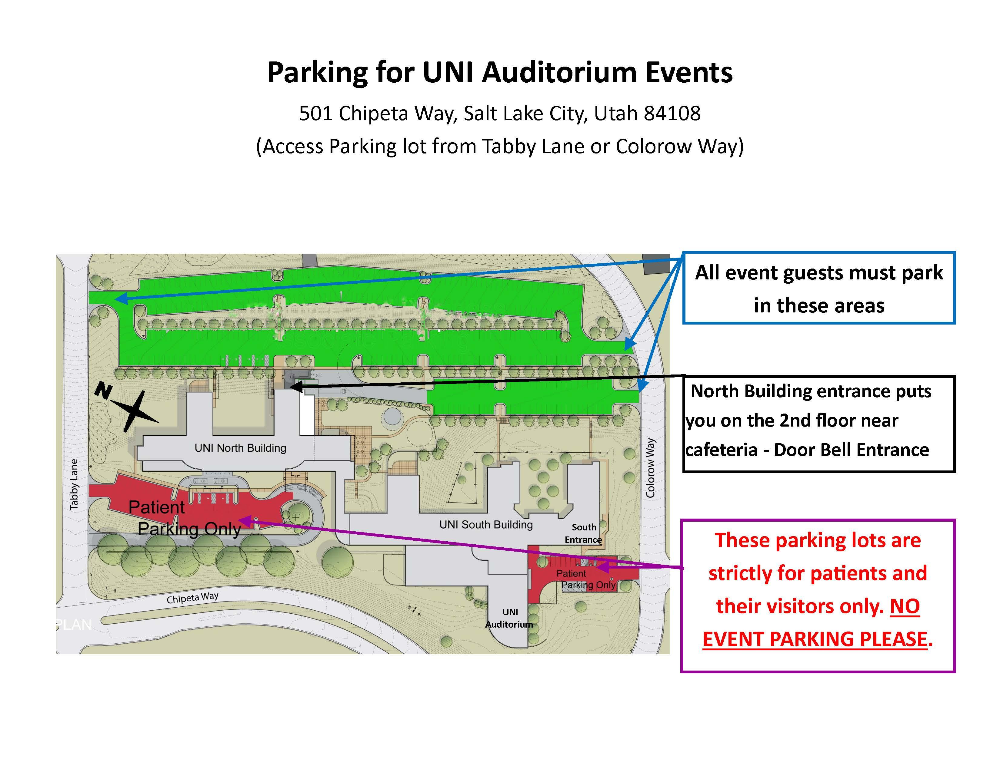 UNI Parking Map