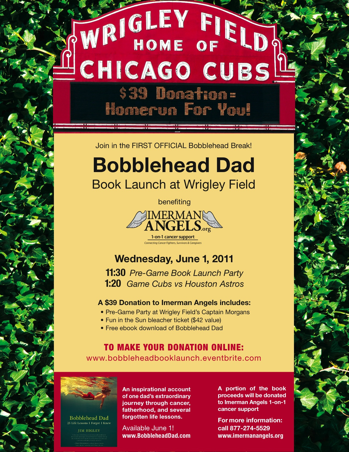Bobblehead Dad Book Launch at Wrigley Field