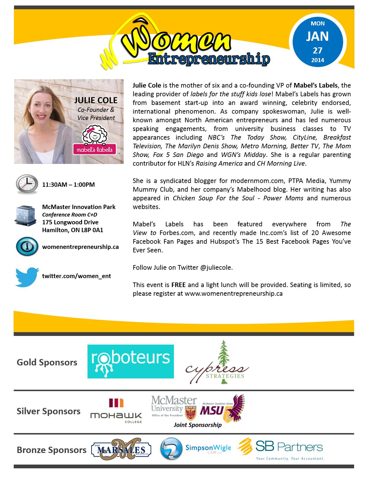 Women Entrepreneurship Flyer