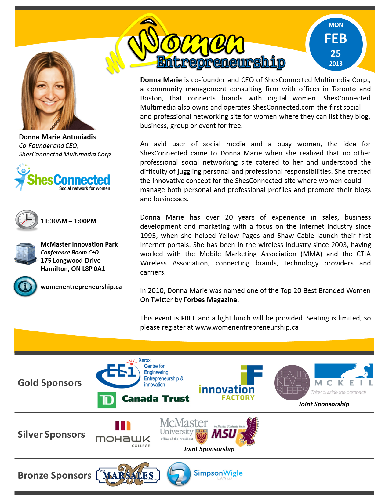 Women Entrepreneurship Flyer - Feb 25, 2013