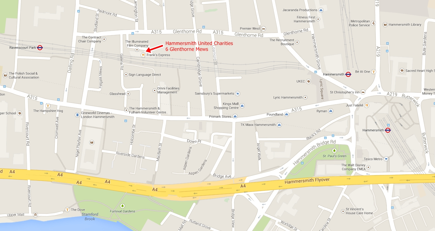 Hammersmith United Charities Location Map