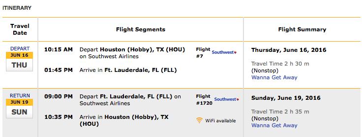 Flight Itinerary ABFF