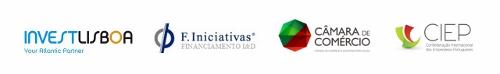 Parceiros: Invest Lisboa, F-Iniciativas, Câmara de Comércio e Indústria Portuguesa, CIEP