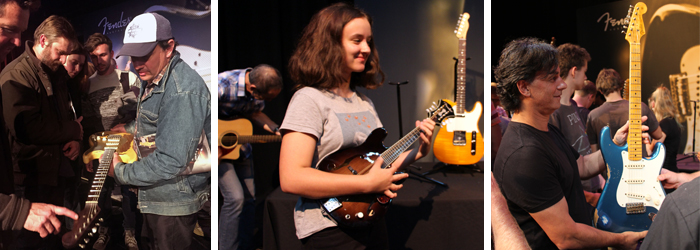 Hands on time at the Fender Roadshow