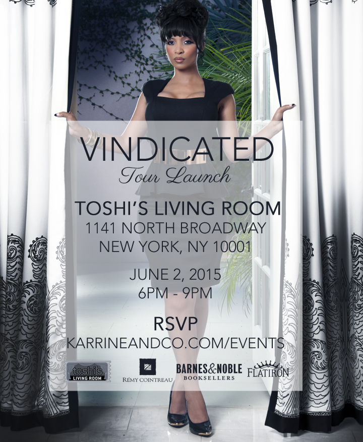 Karrine Steffans The Vindicated Tour Launch Toshi 39 S Living Room Nyc Tickets Tue Jun 2 2015