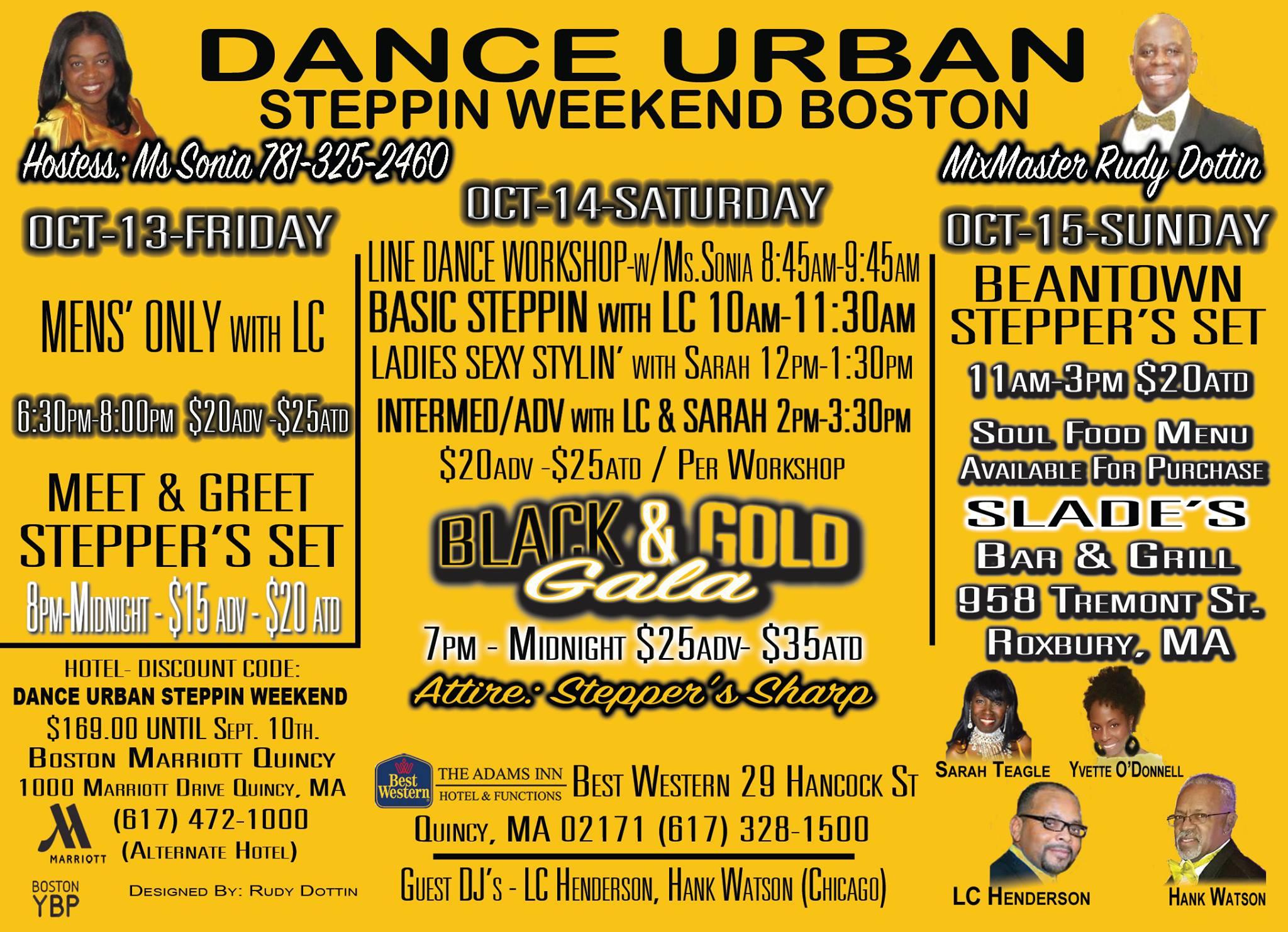 Dance Urban Steppin Weekend Boston 2017 agenda