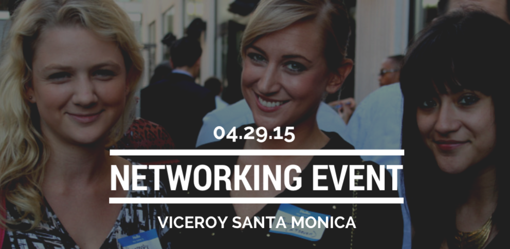 Wednesday April 29 Networking Event