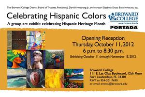 CELEBRATING HISPANIC COLORS - Art Exhibit