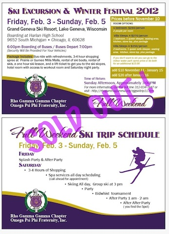 Full Weekend Ski Package SOLD OUT