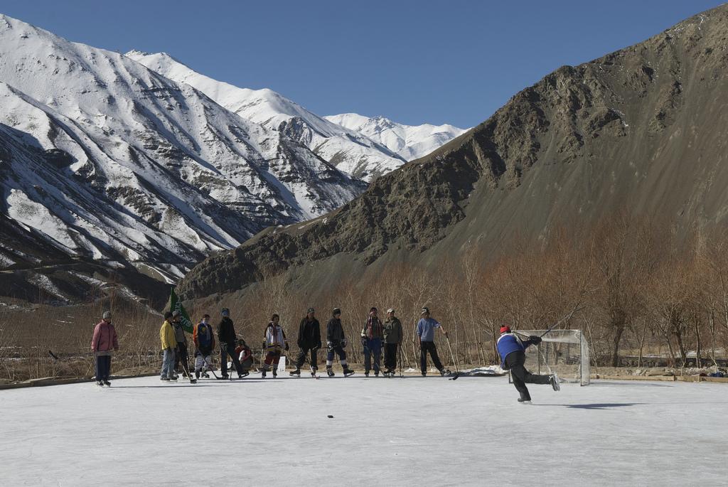 Executive Director Adam Sherlip with Ladakhi Children