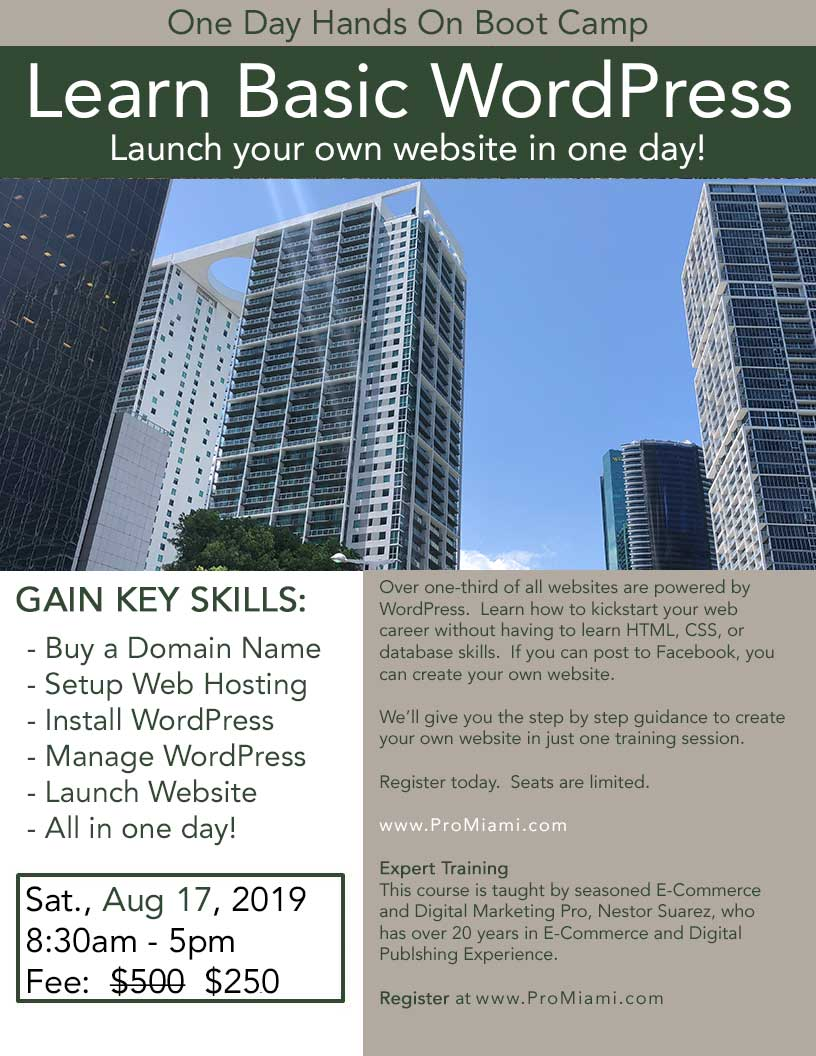 One Day Word Press Seminar