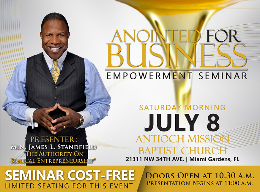 Anointed For Business Empowerment Seminar Miami Fl Tickets Sat Jul 8 2017 At 11 00 Am