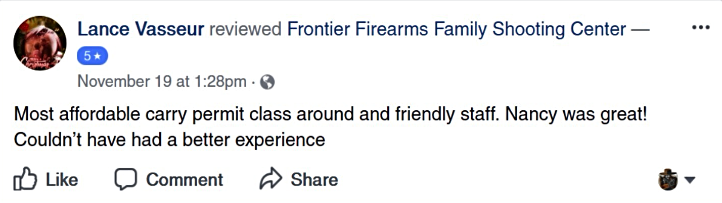 Most Affordable Handgun Carry Permit Class