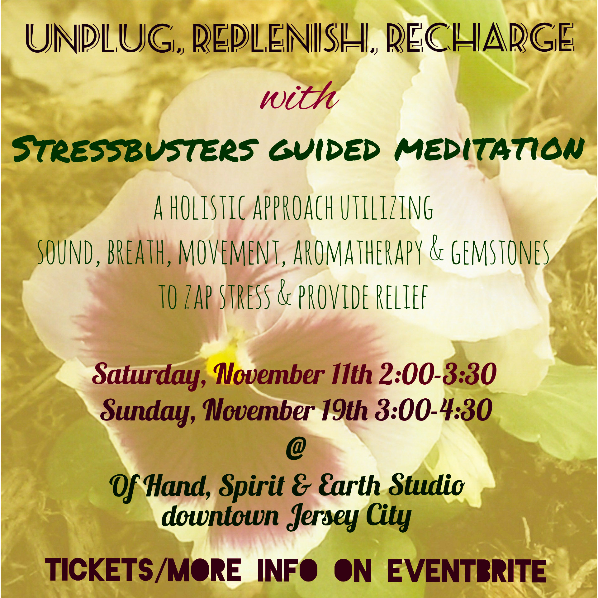 StressBusters Guided Meditation flyer