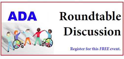 Register Now ADA Roundtable