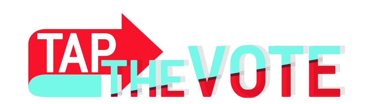 Tap the vote logo