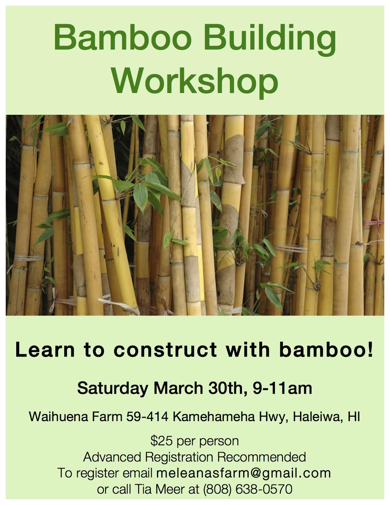 Bamboo Workshop flyer