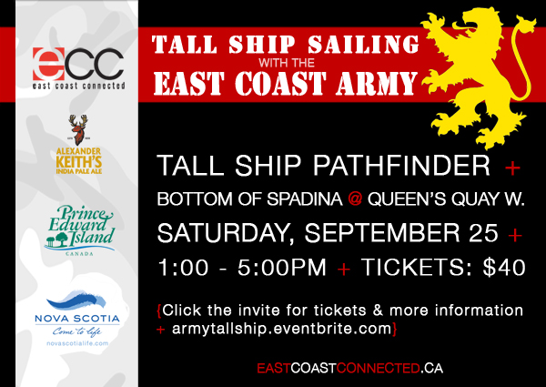 Tall Ship Sailing with the Army Sept. 25
