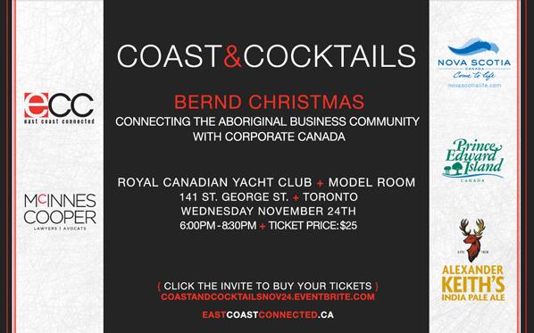 Coast & Cocktails, Nov 24 with Bernd Christmas