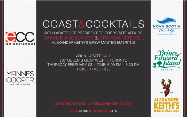 Coast & Cocktails with Keith's at John Labatt Hall, Feb. 03 in Toronto