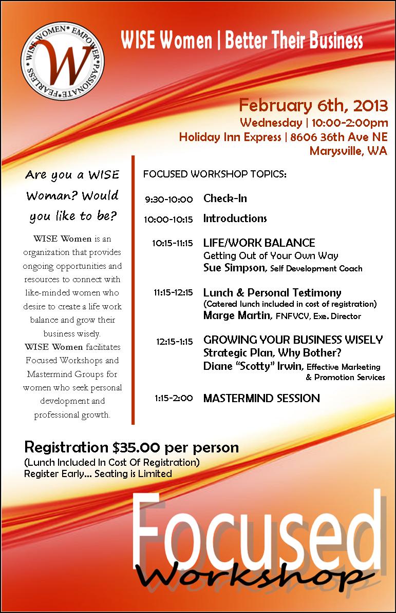 Event Flyer with Workshop Discription