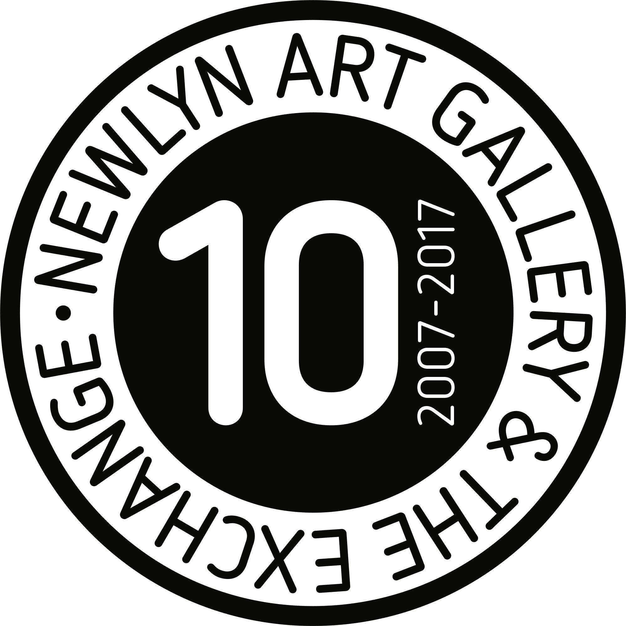 10th Anniversary Newlyn Art Gallery & The Exhange Logo