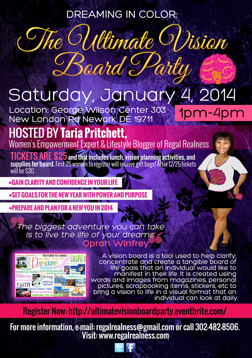 Dreaming In Color: The Ultimate Vision Board Party Tickets ...