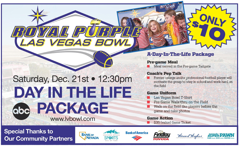 Las Vegas Bowl Day in the Life Package