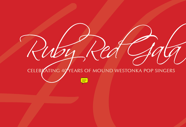 Pop Singers Ruby Red Gala